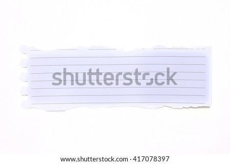 pieces of paper on white background. - stock photo