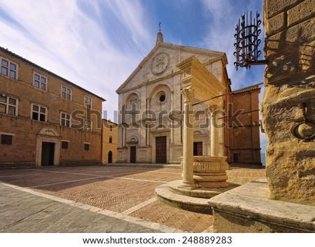 Pienza cathedral  - stock photo