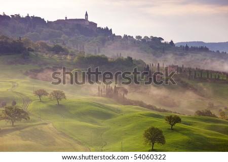 Pienza - Tuscany - Italy - stock photo