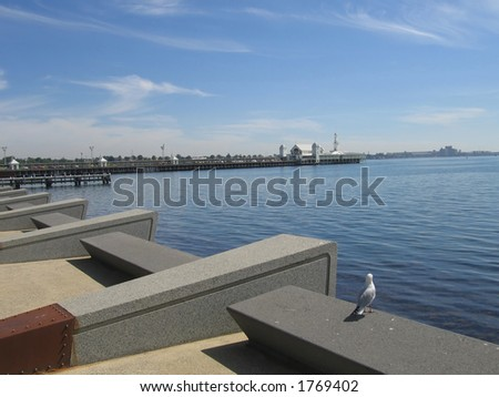 Pier at Geelong (Australia) - stock photo