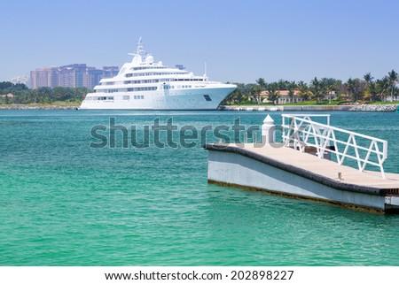 Pier at the Persian Gulf in Dubai - stock photo