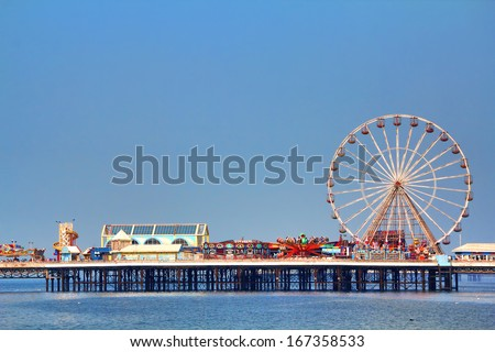 Pier in Blackpool - stock photo