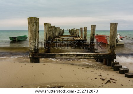 pier on the Baltic Sea in Zingst, Germany - stock photo