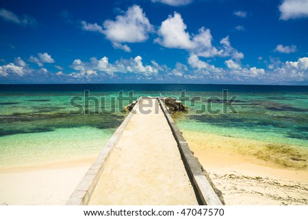 Pier to eternal summer - stock photo