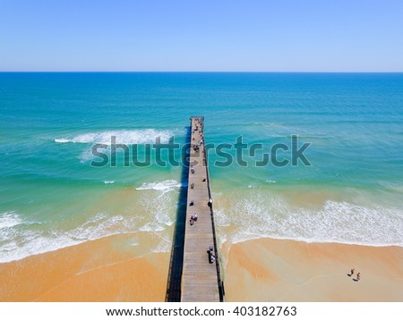 Pier to the Ocean - stock photo