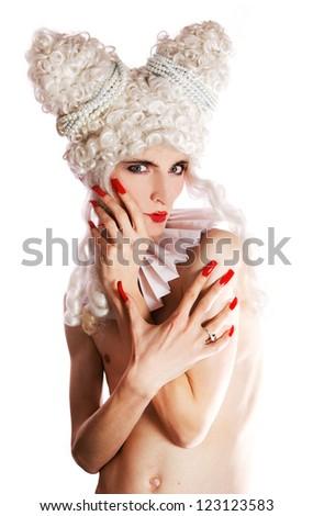 Pierrots conceptual photo. Focus on face. - stock photo