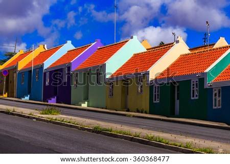 Pietermaai Curacao - stock photo