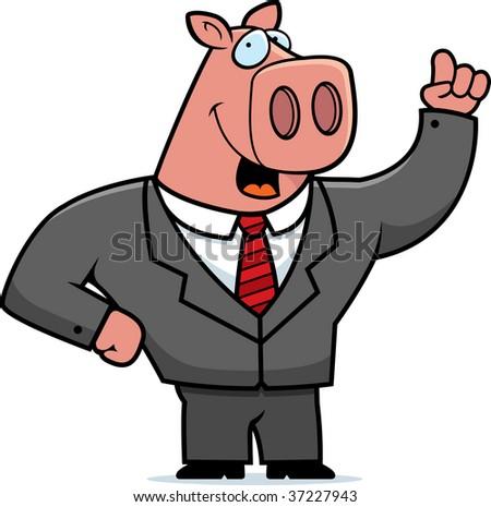 Pig Businessman - stock photo