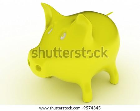Pig 3D - stock photo