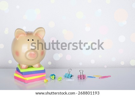 Piggy Bank Concept Background - stock photo