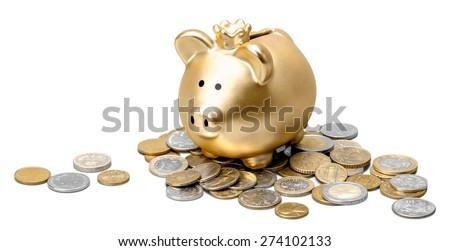 Piggy, bank, money. - stock photo