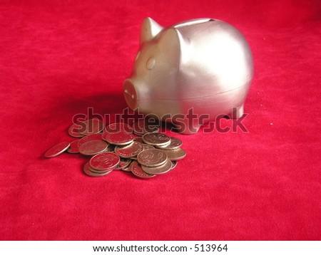 Piggybank (horizontal - stock photo