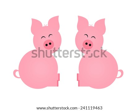 Pigs  - stock photo