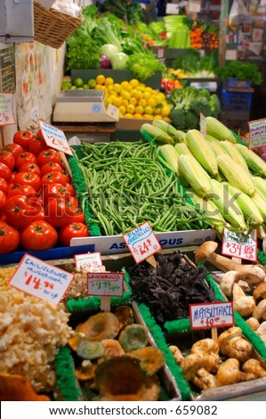 Pike Place Market Produce, Seattle Washington - stock photo