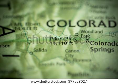 Pikes Peak. Colorado. USA - stock photo