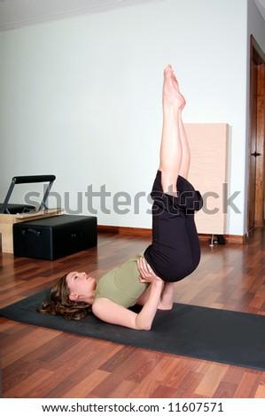 Pilates Floor Workout - stock photo