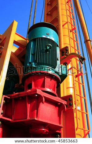 pile driver - stock photo