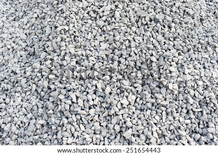 Pile Gravels  , Pile crushed stone for construction  - stock photo
