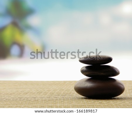 Pile of a stone - stock photo