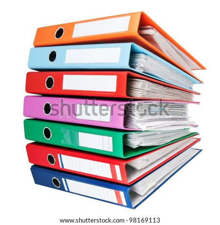 pile of binders - stock photo