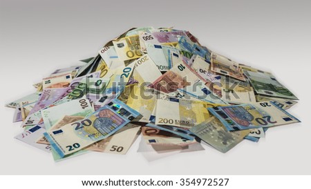 pile of cash, money, 2015, new bills - stock photo