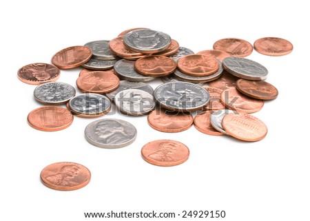 pile of change - stock photo