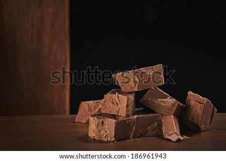 Pile of chocolate - stock photo