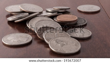 pile of coins - stock photo