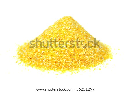 Pile of Corn Grits - stock photo