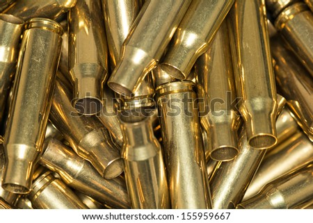 Pile of empty bullet shells - stock photo