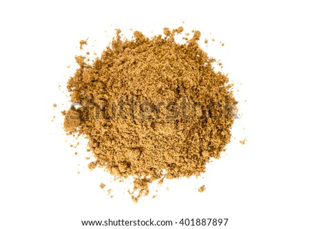 Pile of Garam Masala on white background. Indian spice mix - stock photo