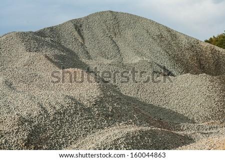pile of gravel - stock photo