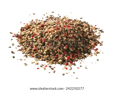 pile of ground pepper  - stock photo