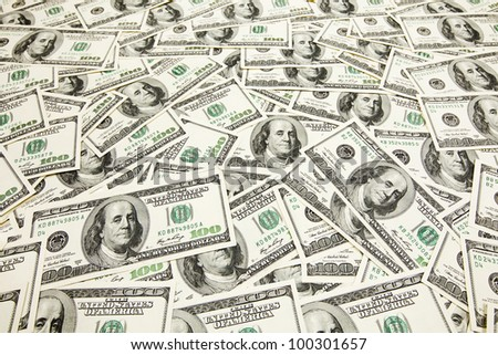 Pile of mmerican money - stock photo