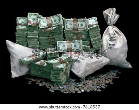 Pile Of Money - stock photo