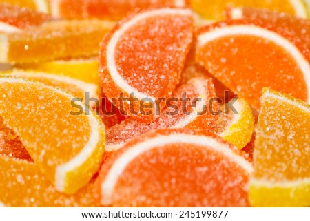 pile of multicolored sweet candy solid marmalade - stock photo