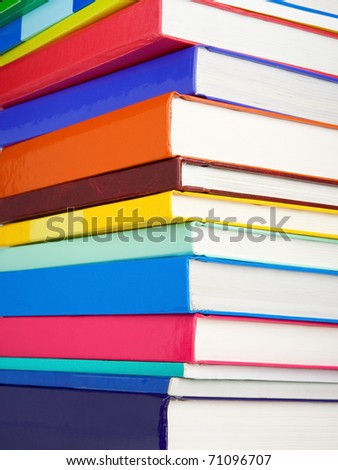 pile of new books as background - stock photo