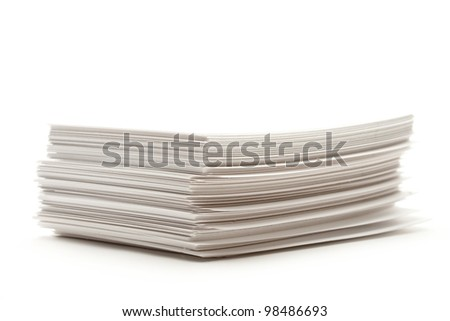 Pile of paper cards - stock photo