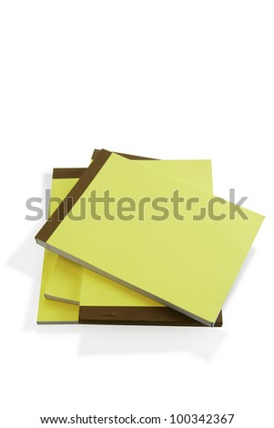 Pile of paper note pads - stock photo