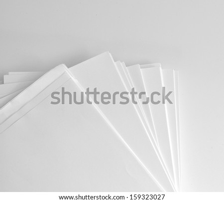 Pile of Papers - stock photo