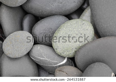 Pile of pebbles background - stock photo