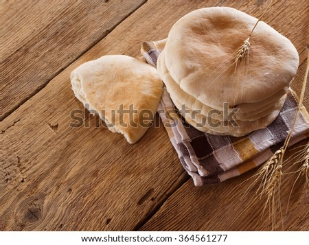Pile of Pita Bread - stock photo