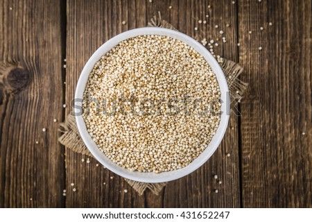 Pile of Puffed Quinoa as detailed close-up shot (selective focus) - stock photo