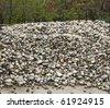 pile of river rocks - stock photo