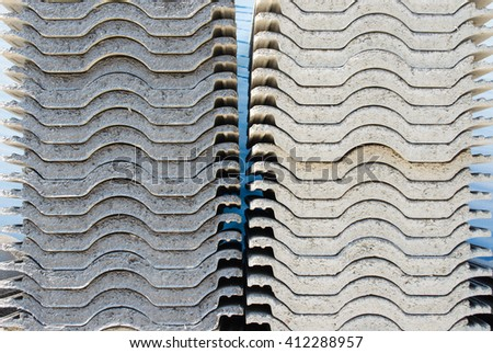 Pile of roofing tiles - stock photo