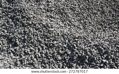 Pile of rubble and stones. Background - stock photo