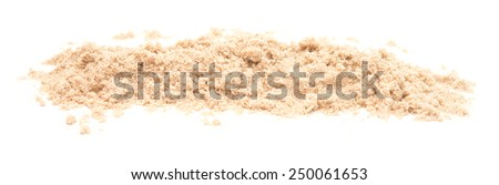 pile of sand isolated on white background - stock photo