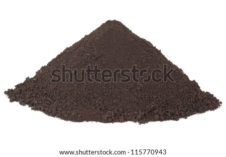 Pile of soil - stock photo