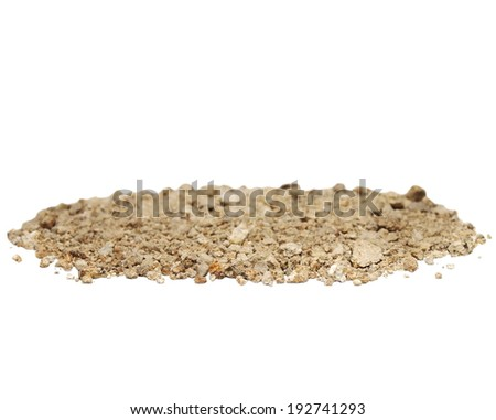 Pile of soil isolated on white background - stock photo