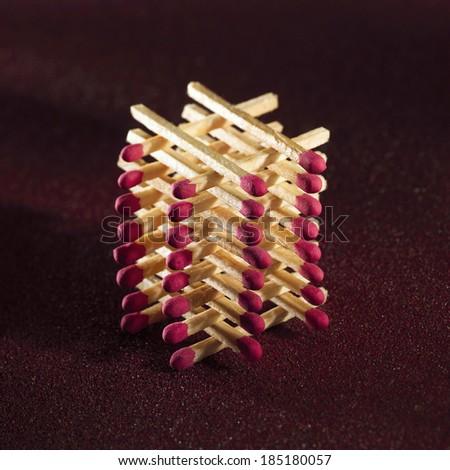 Pile of sticks phosphorus - stock photo